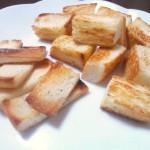 ココナッツオイルでササッとできる、「ラスク風食パン」を作ってみた
